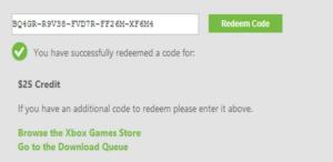 Xbox Gift Card codes list